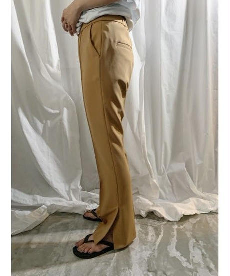 center seam side slite pants (beige)