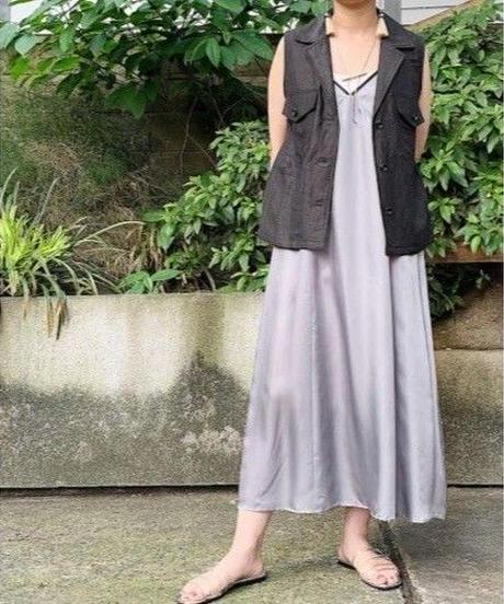 cupra slip-dress (gray)