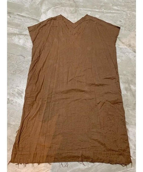 gauze logo print dress  (brown)