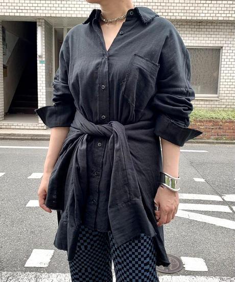 gauze big 3way shirts(black)