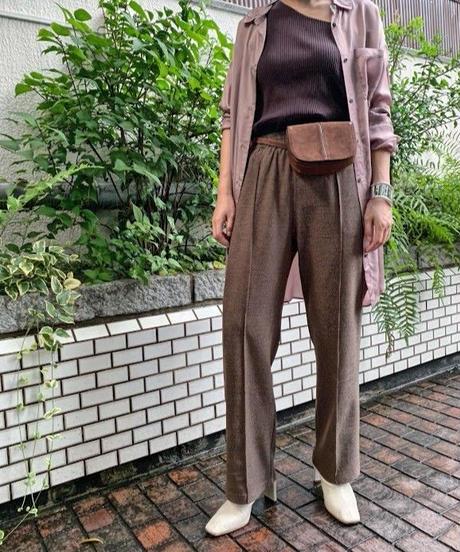 Tweed-like pants  (brown)