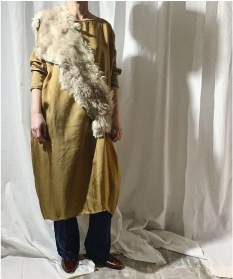 cupra dress  (camel)