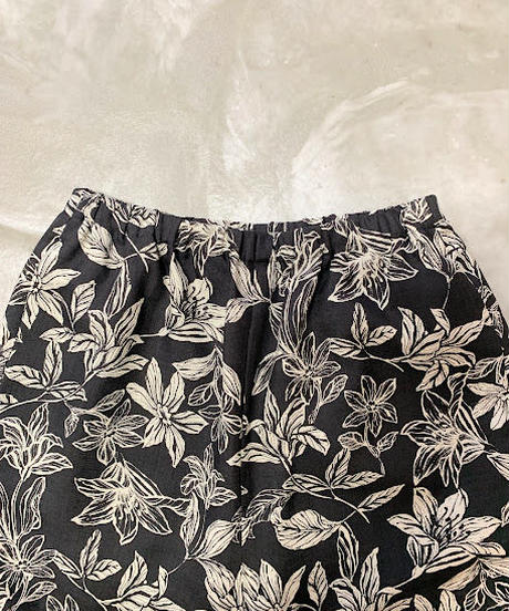 pattern relax pants (black)