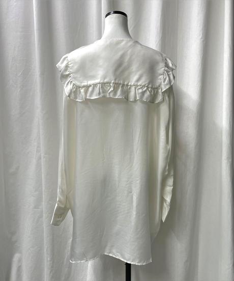 cupra frill big blouse(offwhite)