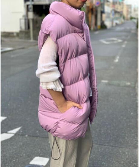 power shoulder down vest (lavender)