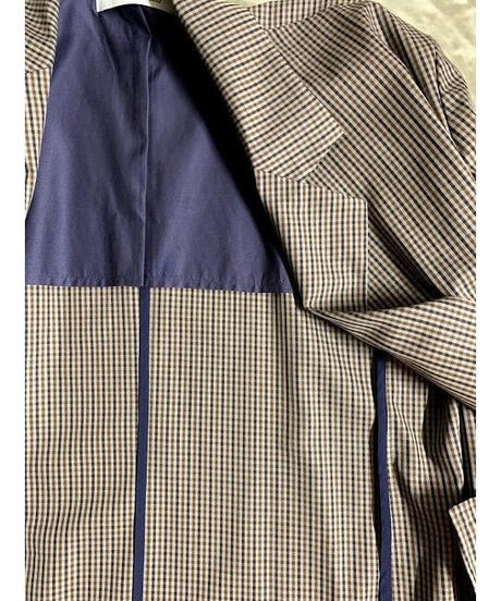 BIG tailored check jacket    (brown)