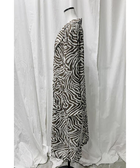 zebra long coat  (brown)