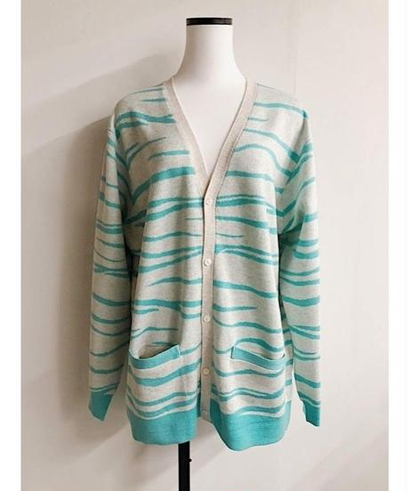 intarsia knit cardigan (off white)