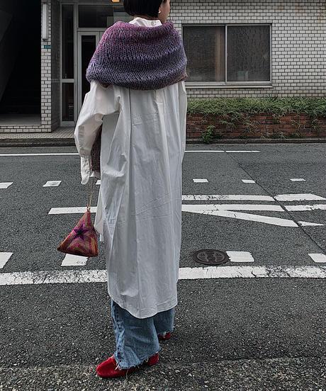 gradation cropped knit (purple)