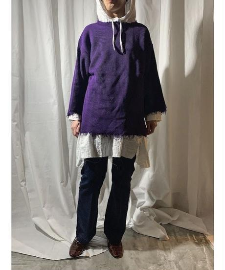 damage knit(purple)