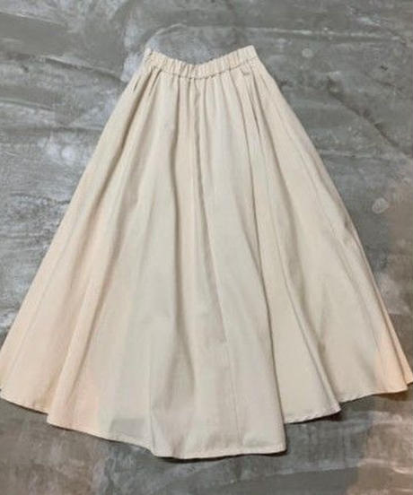 irregular hem skirt (off white)