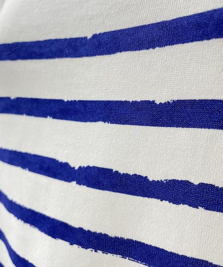 big border print T(blue)