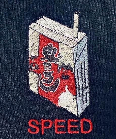 《SAU》SPEEDスウェット/BLACK(缶バッヂとステッカーのおまけ付き)