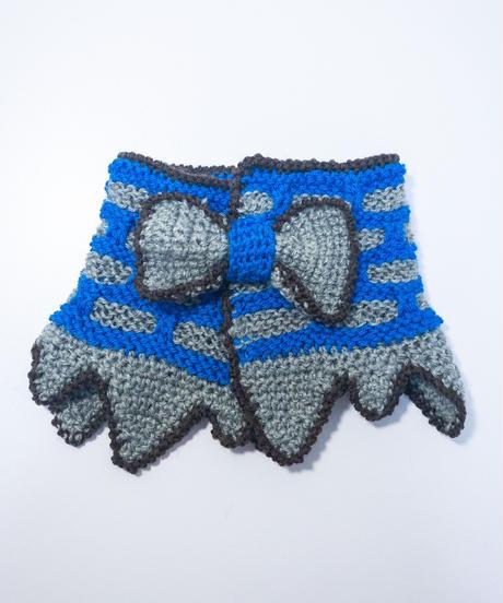 《liTTLe sHAman》  ベビー&キッズ用 リボン付け襟マフラー/ブランドステッカー付き