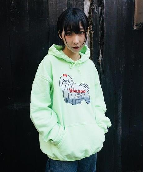《SAU》VOLCANOパーカー/黄緑(缶バッヂとステッカーのおまけ付き)