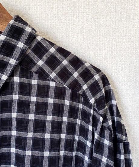 チェックシャツワンピ