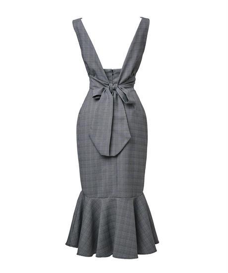 ribbon vest × corset volume mermaid skirt