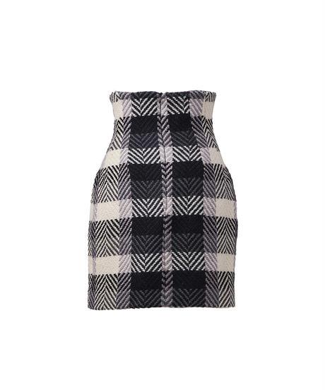 corset wool mini skirt
