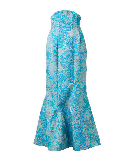 high-waist mermaid long skirt