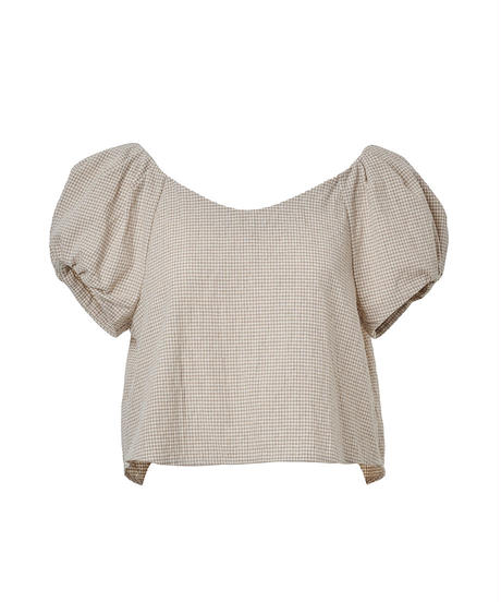 summer set up tops -puff sleeve-