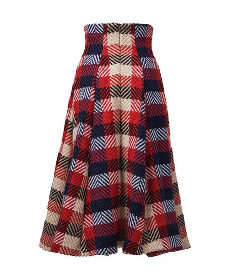 corset wool flare skirt
