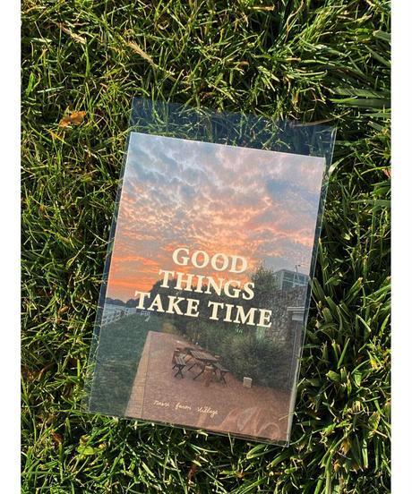 ポストカード(GOOD THINGS TAKE TIME)