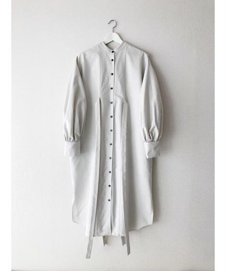 S007 [1] PAIR - Double Ribbon Shirt Dress