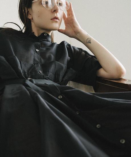 S003 [1/2] HALF - Pleats Skirt Shirt Dress