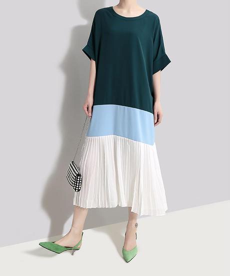 夏桜*ビック シルエット Tシャツ ワンピース モダン デザイン ワンピース 大人のモダンスタイル ns190625-051