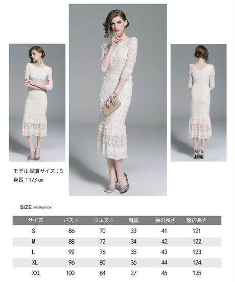 夏桜*レース フォーマ ルドレス 披露宴 二次会 パーティー ドレス ns20190711-02