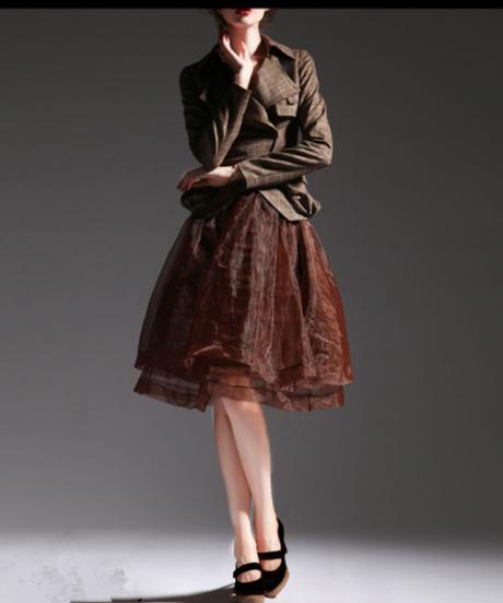 夏桜*秋の新しい薄い女性のウエストラペルスリムショートジャケットチェック柄ns20200914-01