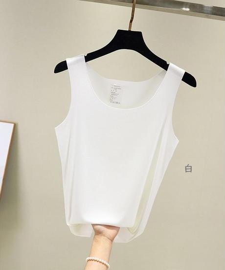 夏桜*モーダル シームレス ベスト ゆったり袖なしTシャツ