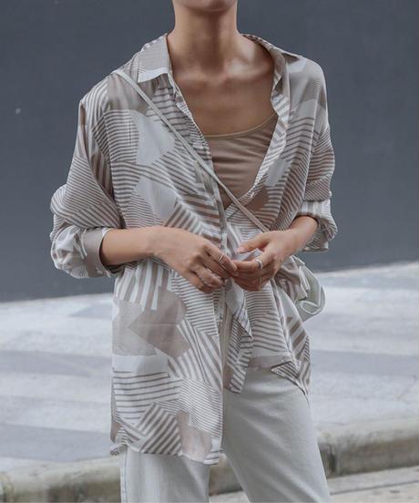 夏桜*プリントレディースシャツ ns190805-13