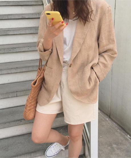 夏桜*UVカット リネン ジャケット 長袖 ns190725-42