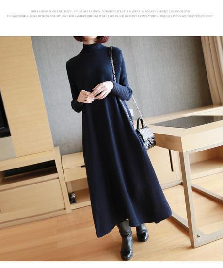 夏桜*セーター スカート ニット ワンピース ns190905-5