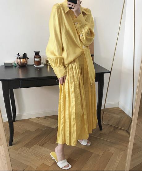 夏桜*シルク サテン ロング スカート ns190805-26