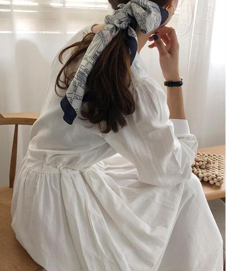 夏桜*コットン100% ロング ワンピース ns190805-02