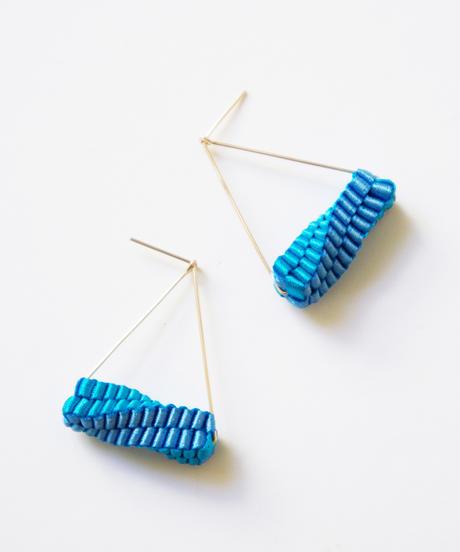CHIKAKO YAJIMA | Geometry Triangle  Earrings