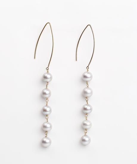 ColouR | pearl link pierce(long)