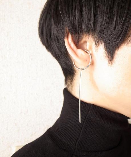 Marzo   Line earrcuff (silver)