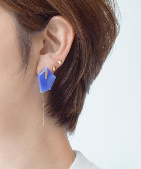 Shelby | DISK AGATEPierced Earring chain