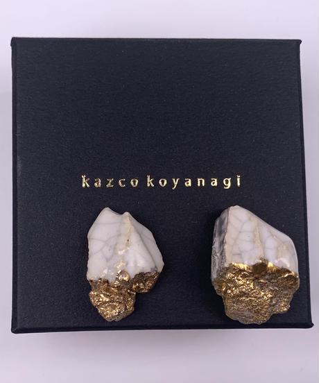 kazco koyanagi | crack gold earring