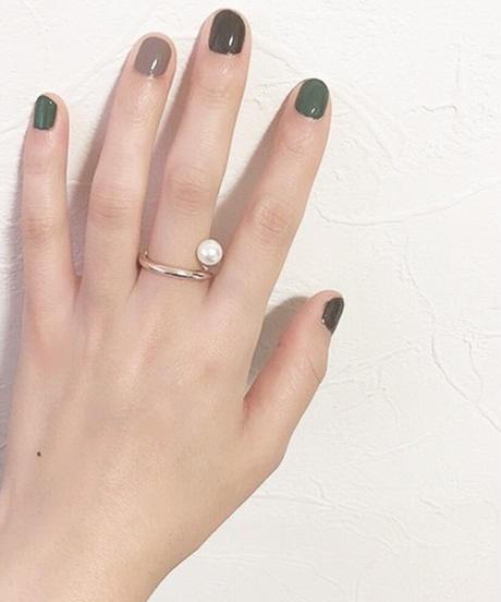 plus.jewel | spiral pearl ring