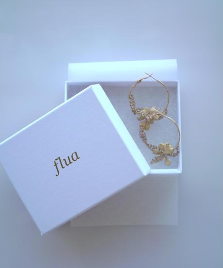 flua | オモダカクォーツゆらゆらピアス/イヤリング