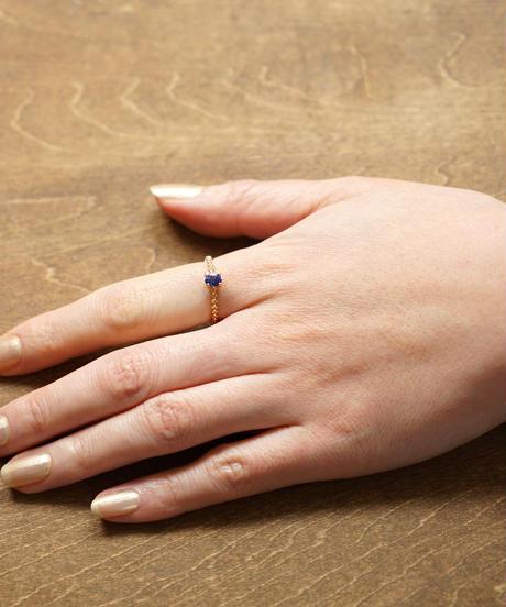 palmette | K18 275GD BL Ring サファイア#13