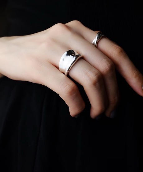 AVATE | 〈silver925〉Plump 逆甲丸 ring[Middle] 2~19号シルバーリング
