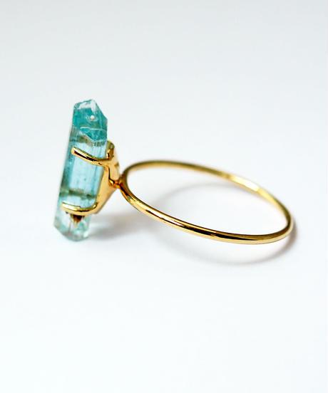 LiniE | Aquamarine Rough Ring