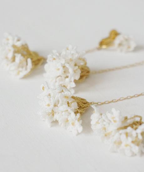 cotoyo matsue I  Lace flower earring, pierce