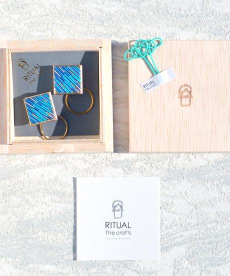 RITUAL   Square Hoop I earring   turquoise