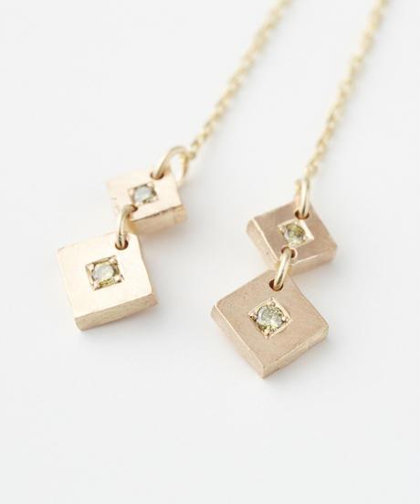 cherrybrown | gold earring (american type)